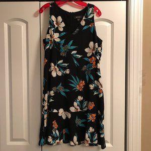Karen Kane Tropical Floral Flounce Hem Dress
